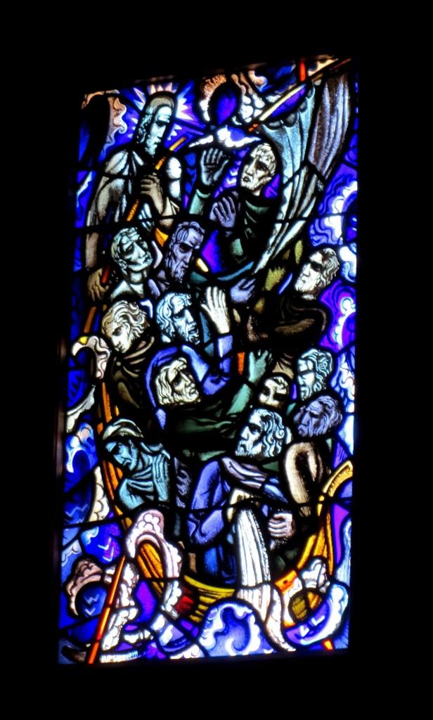 Het Riepster Licht: twaalf wijze mannen en Jezus in een bootje