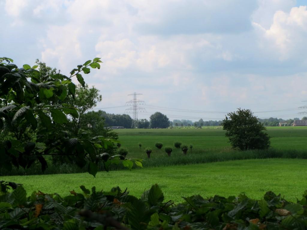 Uitzicht vanaf Groot Wetsinge op de Valgeweg en Klein Wetsinge