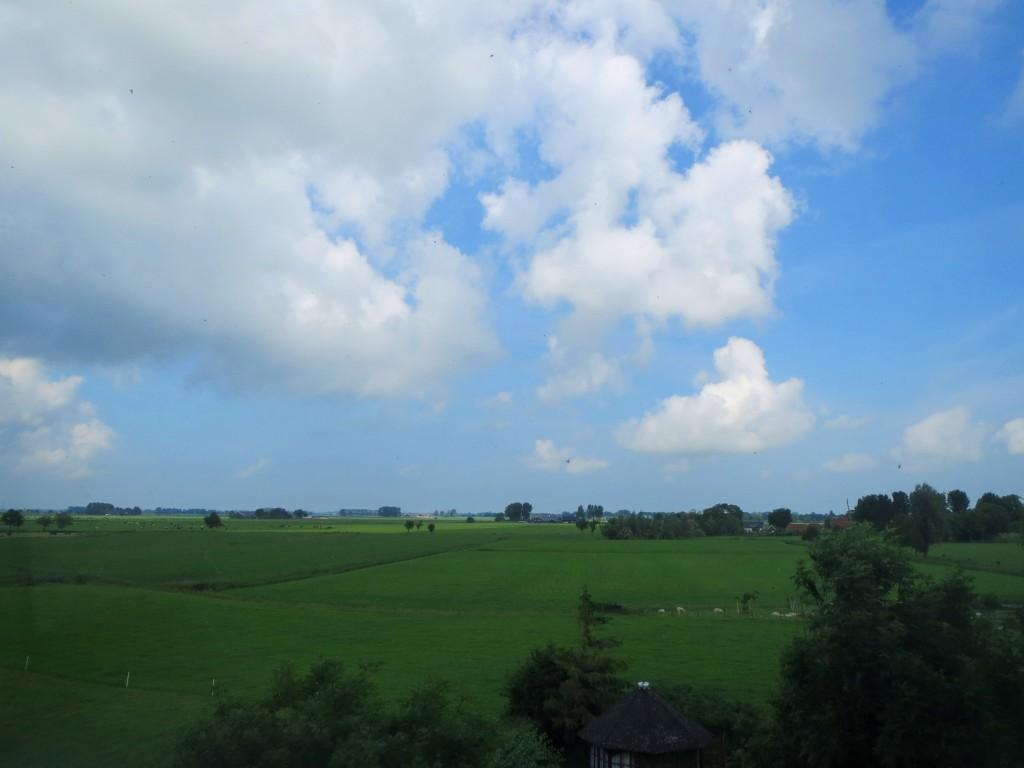 Uitzicht vanaf de kerk, Klein Wetsinge
