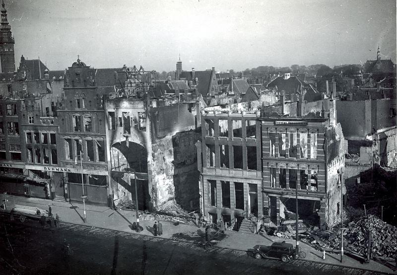 Grote Markt, Groningen, 1945 (foto via Hans Zant)